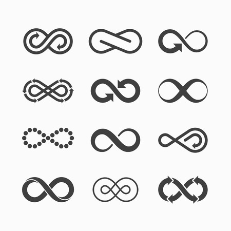 infinite loop: Infinity symbol icons