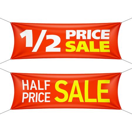 half price: Half price banners