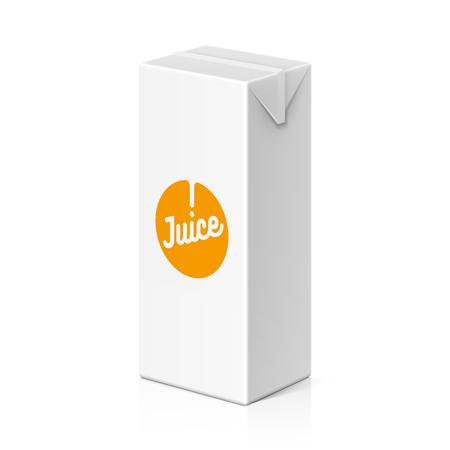 food drink: Juice or milk package mock up, 200ml