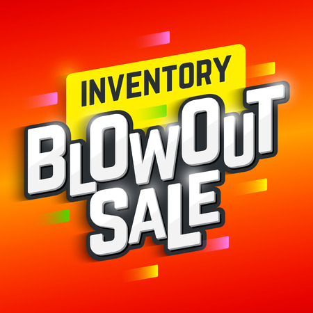 Inventory Blowout Sale banner Stock Illustratie