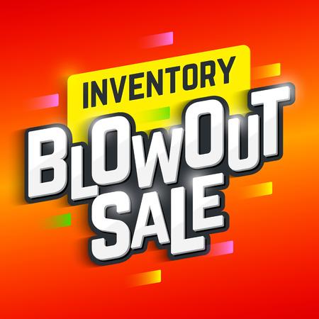 blowout: Inventory Blowout Sale banner Illustration