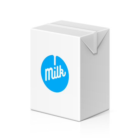 food products: Milk or juice package mock up, 200ml Illustration