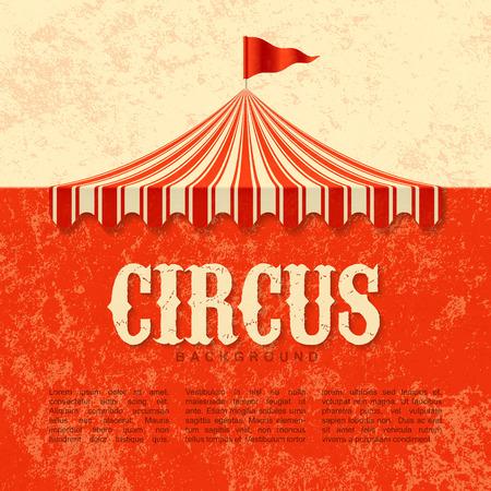 cirque: Circus advertisement, vintage poster background