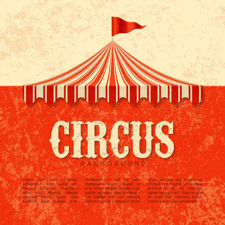 Circus advertisement, vintage poster background