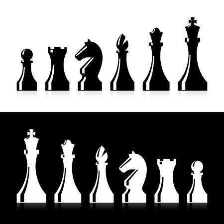 Chess pieces icons Illustration
