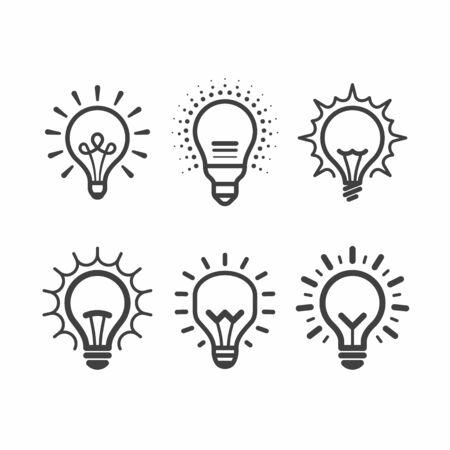 Light bulb icons set