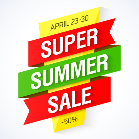 summer sale: Super Summer Sale banner
