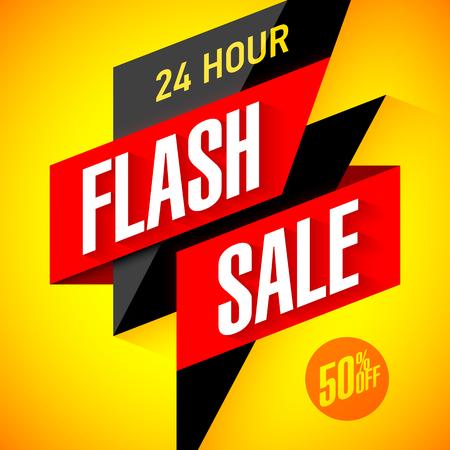 rebate: 24 hour Flash Sale banner. Illustration