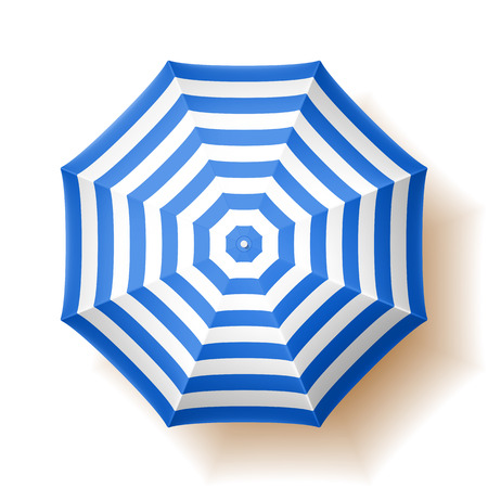 beach umbrella: Beach umbrella, top view