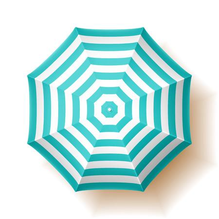 sunshade: Beach umbrella, top view