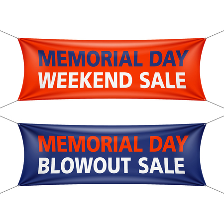 Memorial Day Weekend and Blowout Sale banners
