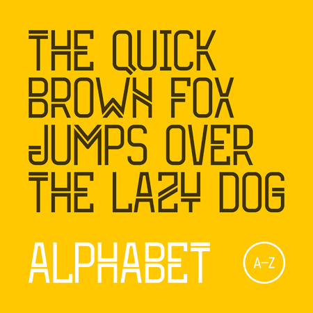 quick: The quick brown fox jumps over the lazy dog. Modern font, 26 latin alphabet letters