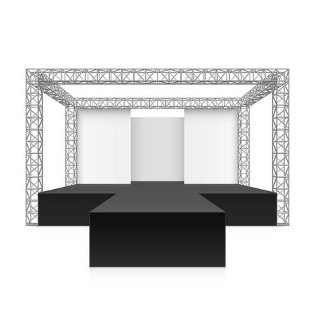 scène du festival en plein air, podium, système de treillis métallique