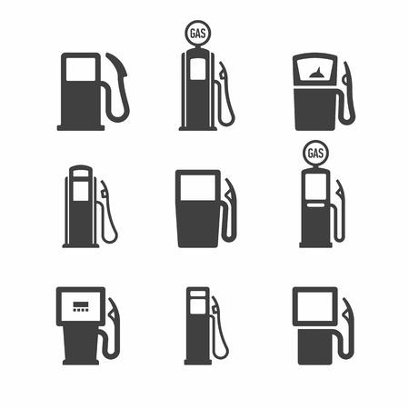 Gas Pump. Fuel, gas, gasoline, oil, petrol signs.