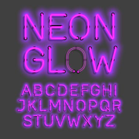 neon glow alphabet: neon glow alphabet