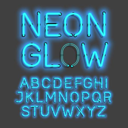 neon glow: neon glow alphabet
