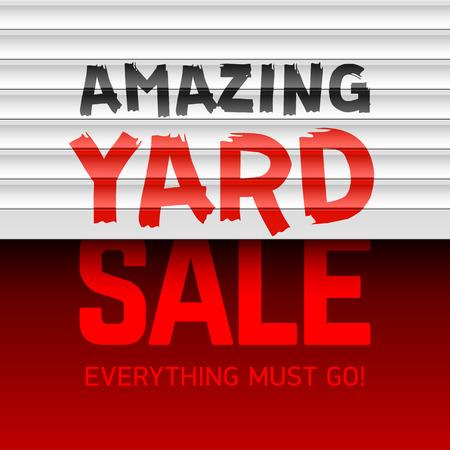 yard sale: Amazing Yard Sale poster template