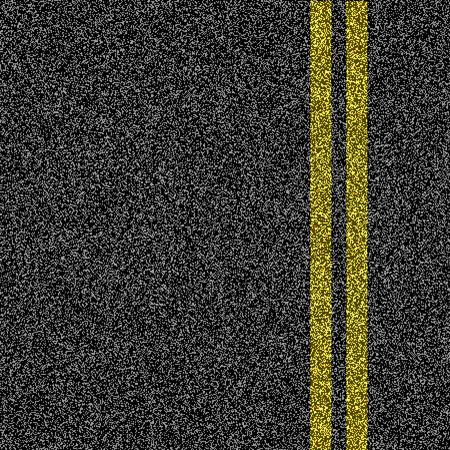 Asfalt weg met dubbele gele markering lijn