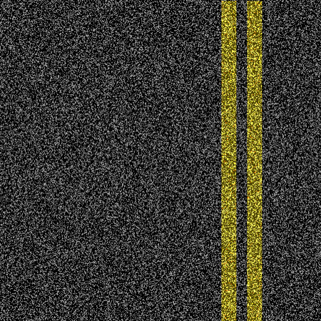Asphalt-Straße mit zwei gelben Markierungslinie