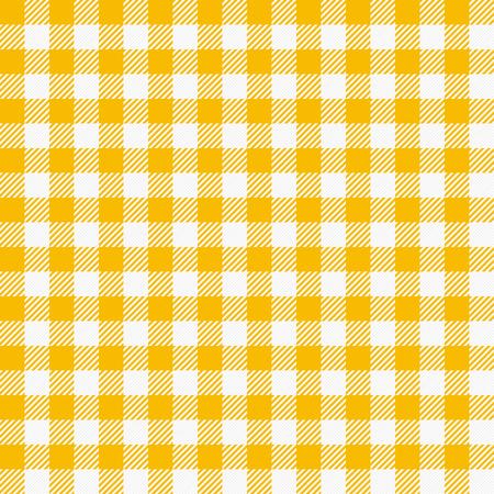 원활한 체크 무늬 식탁보입니다. 전통적인 깅엄 패턴, 바둑판 무늬 직물, 식탁보 텍스처 일러스트