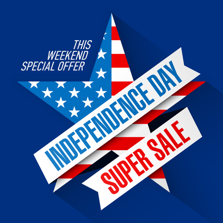 weekend: USA Independence Day Weekend Sale banner design template