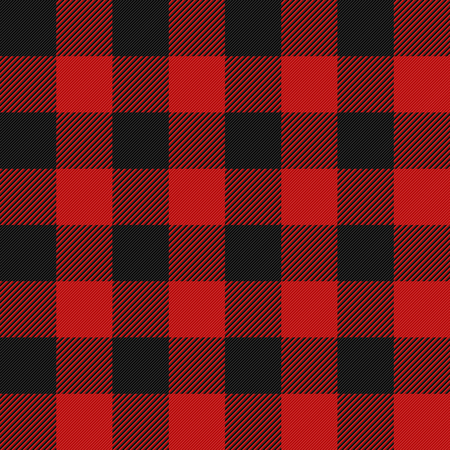 Lumberjack plaid seamless pattern Çizim