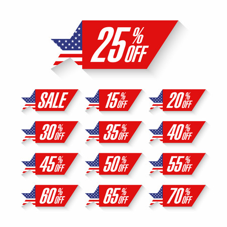 independently: USA Independence Day Sale discount labels