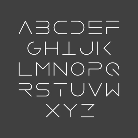 uppercase: Thin line style, linear uppercase modern font, typeface, minimalist style. Latin alphabet letters.