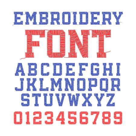자수 글꼴, 문자 및 숫자