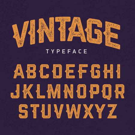 typeface: Vintage typeface, retro style font
