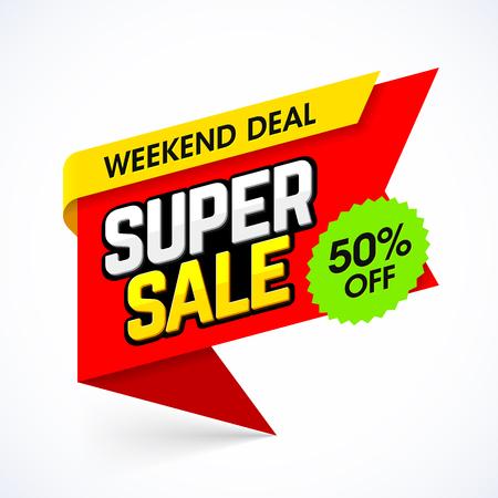 Super Sale banner Illustration