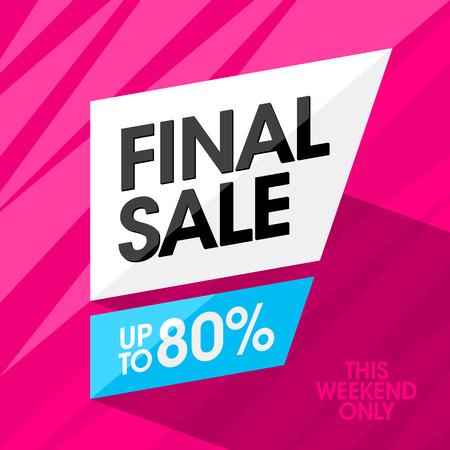 final: Final Sale banner design template Illustration