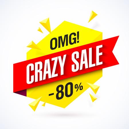 Crazy Sale poster 向量圖像