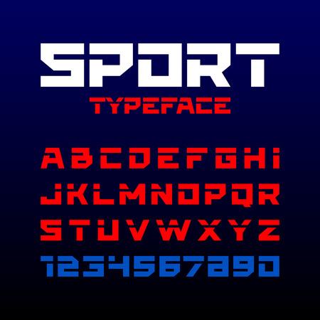 Sport stijl lettertype. Ideaal voor koppen, titels of posters.