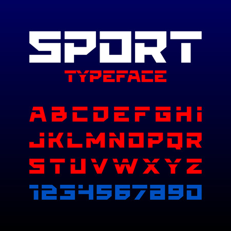 headlines: Sport style typeface. Ideal for headlines, titles or posters.