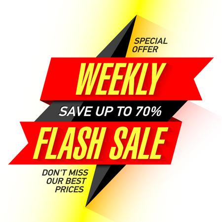 Wöchentliche Verkauf Flash-Banner-Design-Vorlage Standard-Bild - 60057119
