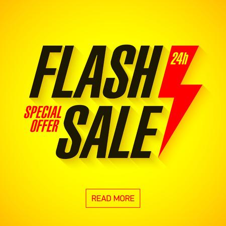 Flash Bandera de la venta. 24 horas solamente, oferta especial.