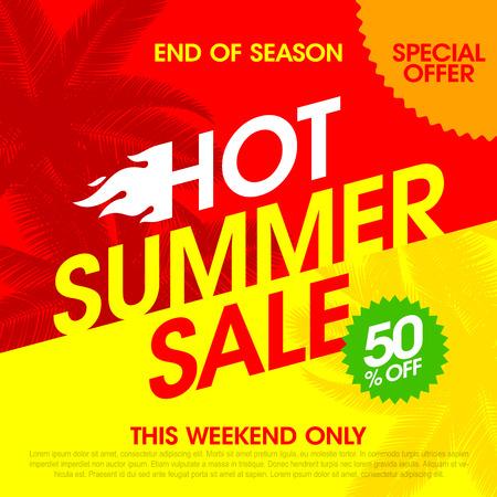 Hot Summer Sale banner design template
