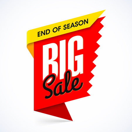 big sale: End of season big sale banner design template