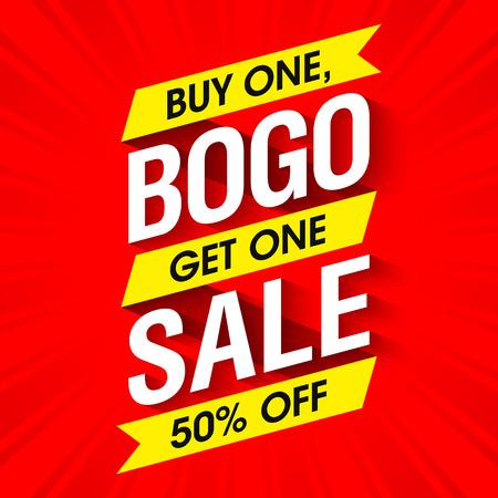 Bogo Sale 배너 디자인 템플릿 스톡 콘텐츠 - 61124588