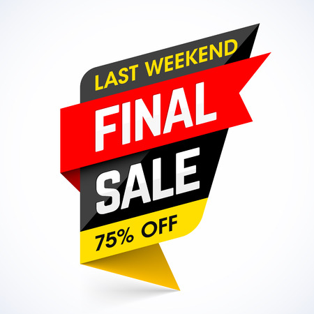 final: Last Weekend Final Sale banner