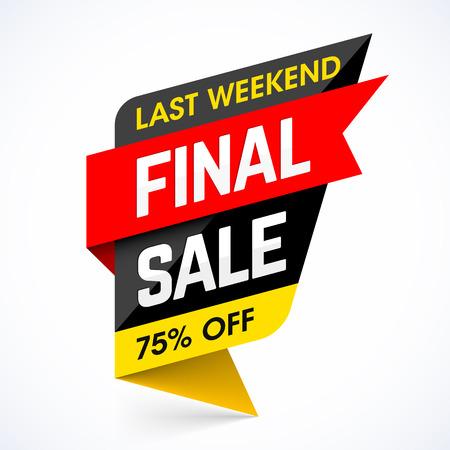 Last Weekend Final Sale banner