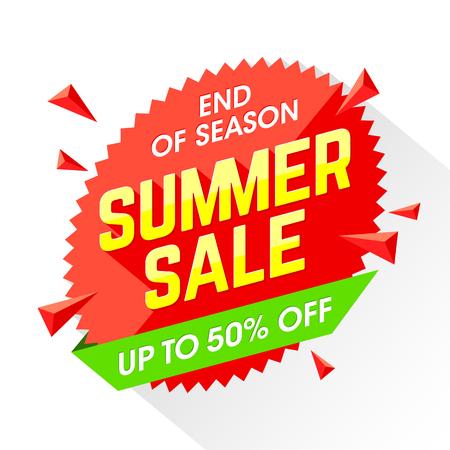 Einde van het seizoen de zomer verkoop template banner Vector Illustratie
