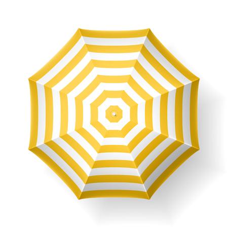 Beach umbrella, top view Reklamní fotografie - 61124611