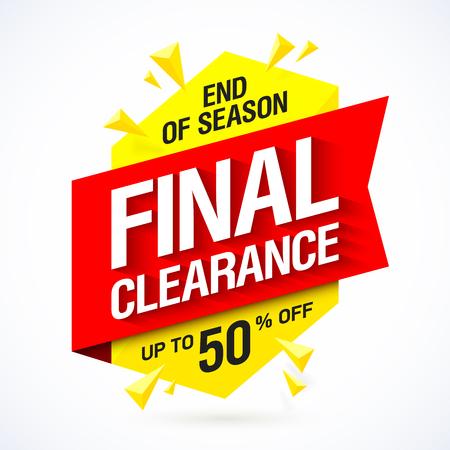 final: End of season final clearance sale banner design Illustration