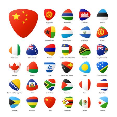 Las banderas nacionales de los participantes de los juegos deportivos de verano en Río. Parte 3.
