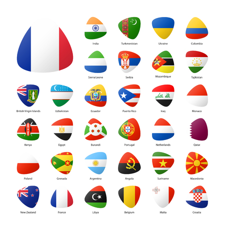 map of netherlands: National participants flags of summer sport games in Rio. Part 4. Illustration