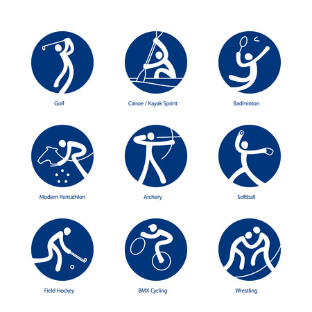 symbol sport: Sommersport Piktogramme