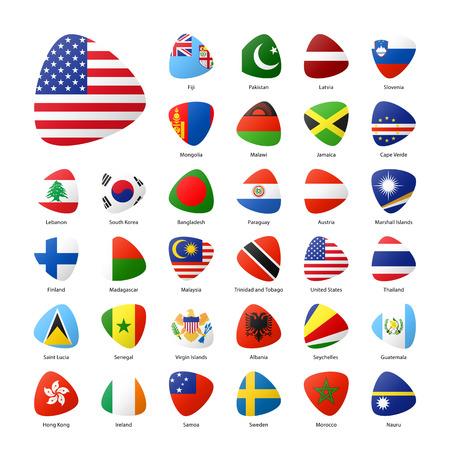 Las banderas nacionales de los participantes de los juegos deportivos de verano en Río. Parte 2.