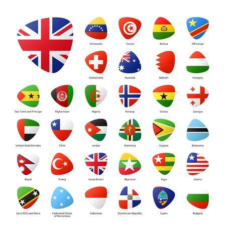 bandera de venezuela: Las banderas nacionales de los participantes de los juegos deportivos de verano en Río. Parte 5. Vectores